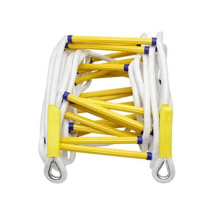 15Meter Rescue Rope Ladder50FT Escape Ladder Emergency Work Safety Response Fire Rescue Rock Climbing Escape Resin and polyester