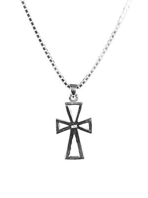 Jean Claude Dell Arte Sterling Silver Order Of Malta Pendant Necklace