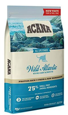 ACANA Cat Wild Atlantic 10LB, Protein-Rich, Real Meat, Dry Cat Food, Model Number: CAC3409-10