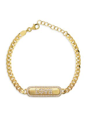 Gabi Rielle Love & Protection 14K Gold Vermeil & Crystal Bracelet