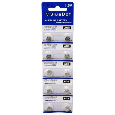 BlueDot Trading AG3 (also known as LR41 and LR736) Alkaline Button Cell Batteries - 10 Pack