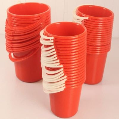 3L Paint Buckets red plastic Paint Bucket Paint mixing vessel can 5PCS/LOT FREE SHIPPING