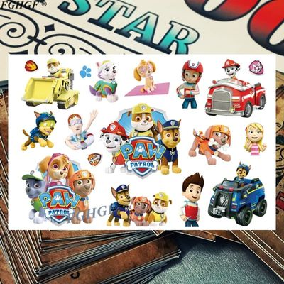 Kids 3d Cute Dog Agent Child Temporary Body Art Flash Tattoo Sticker 17*10cm Waterproof painless tattoo Free shipping