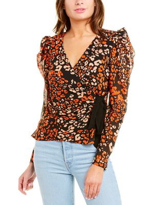 ASTR the Label Lissa Wrap Top