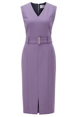 HUGO BOSS - Midi Length Dress In Stretch Double Faced Fabric