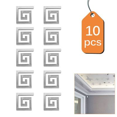10pcs/Lot Geometric Waist 3D Mirror Wall Sticker For Ceiling Living Room Bedroom Acrylic Mural Wall Decals Modern DIY Home Decor