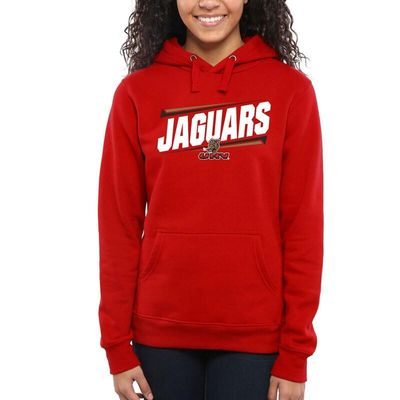 University of Houston-Victoria Jaguars Women's Double Bar Pullover Hoodie - Red