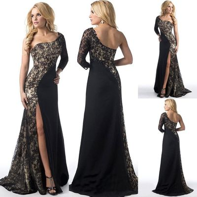2020 Women Sari India Hot Cotton Polyester Style In Europe And The European Dress Sexy Lace Stitching Of New High-end Fashion