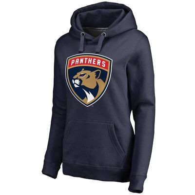 Florida Panthers Women's New Logo Pullover Hoodie - Navy