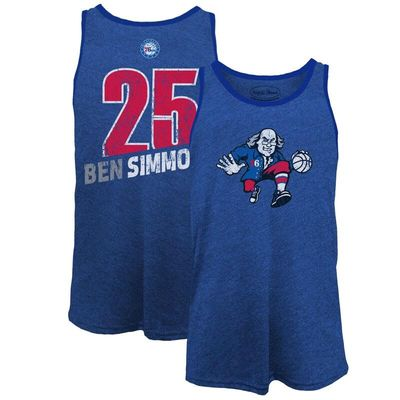 Ben Simmons Philadelphia 76ers Majestic Threads Name & Number Tri-Blend Tank Top - Royal