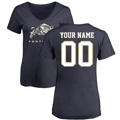 Navy Midshipmen Women's Personalized Football T-Shirt - Navy
