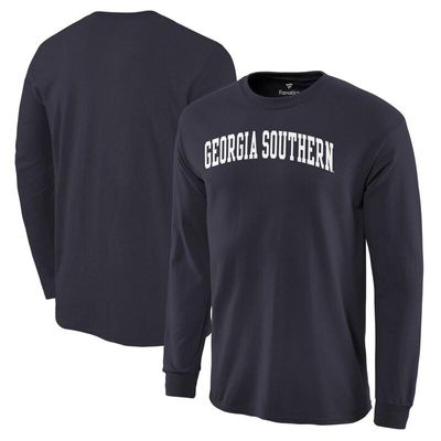 Georgia Southern Eagles Basic Arch Long Sleeve T-Shirt - Navy