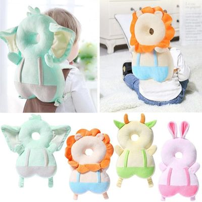 Baby Head Protection Pillow Cute Cartoon Breathable Infant Anti-fall Pillow Multifuntional Large Soft Baby Head Support Pillow