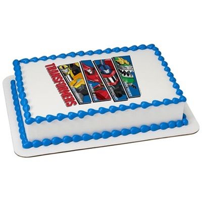 Transformers Edible Icing Image for 1/8 sheet cake