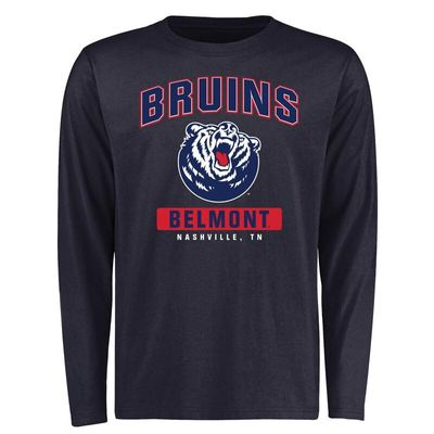 Belmont Bruins Campus Icon Long Sleeve T-Shirt - Navy