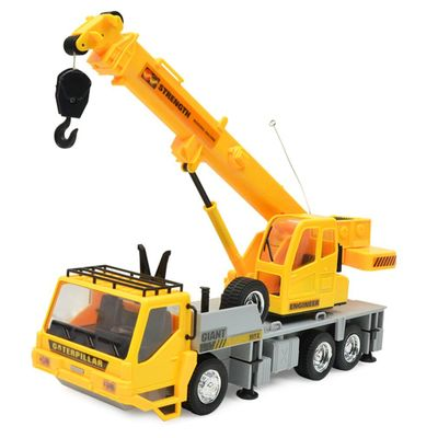 2019 NEW Children Gift Remote Control Crane Kid Lift Construction Engineering Car Model Machinery Tower Cable Car Tower Toy