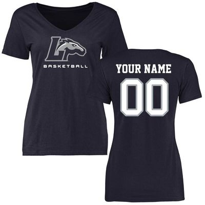 Longwood Lancers Women's Personalized Basketball T-Shirt - Navy