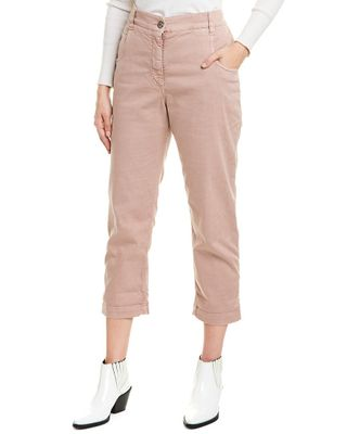Brunello Cucinelli Pink Straight Crop Jean
