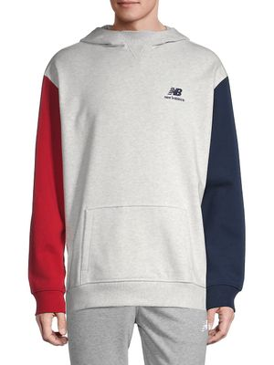 New Balance Hooded Stretch-Cotton Sweatshirt