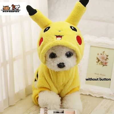 SUPREPET Cat Costume Cute Pet Clothes Cute Cartoon Cosplay Clothes Autumn Winter  Cat clothes Home Pajamas Puppy Hoodie Dog Coat