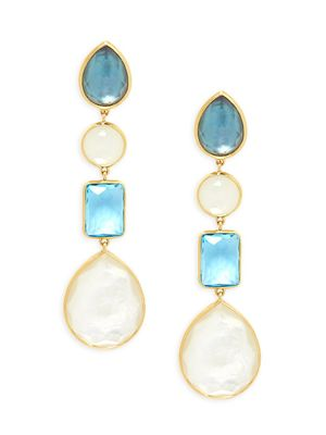 Ippolita 18K Yellow Gold & Multi-Stone Drop Earrings