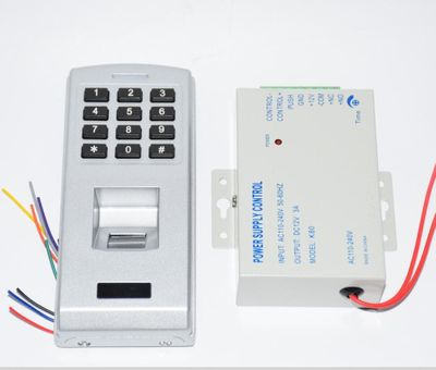 With power supply adapter 12V 3A Fingerprint password keypad access control reader for security door lock system gate opener use