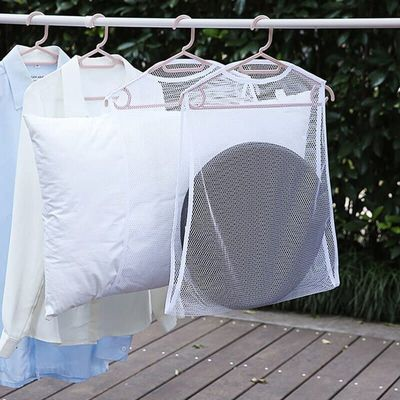 High Multifunctional Pillow Drying Rack Nets Mesh Hanging Net Clothes Basket Doll Plush Toys Windproof UEJ