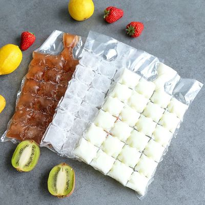 10pc high quality Plastic Transparent Ice Bag One-time Clear Popsicle Bags Ice Cream Storage Bags One-time ice pack 19X30cm