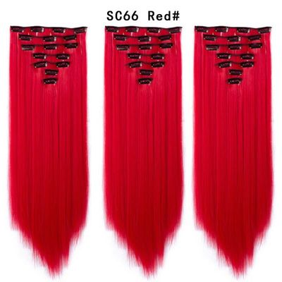 Set Hair Clip In Hair Extensions With Clips Hairpieces Synthetic Extension False/Fake Hair Blonde Eunice hair Long Hair Pieces