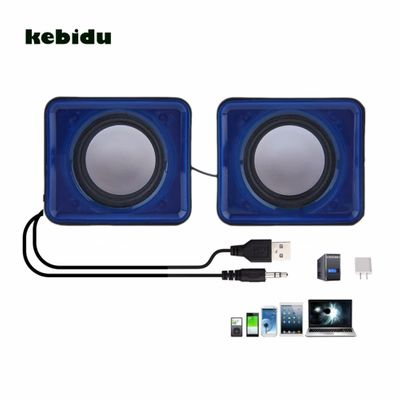 kebidu New arrival USB 2.0 Music Speaker Mini Music Stereo Speaker 3.5mm Pulg for Multimedia Desktop Computer Notebook