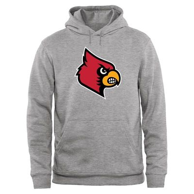 Louisville Cardinals Big & Tall Classic Primary Pullover Hoodie - Ash