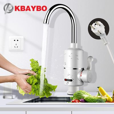 KBAYBO Water Heater Tap Kitchen Faucet Instantaneous Water Heater Shower Instant Heaters Tankless Water Heating tap EU plug