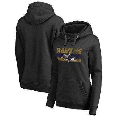 Baltimore Ravens NFL Pro Line by Fanatics Branded Women's First String Pullover Hoodie - Black