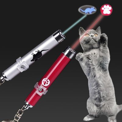Portable Creative Funny Cat Laser LED Pointer Pet Kitten Training Toy Light Pen with Bright Animation Mouse Shadow Hunt Laser