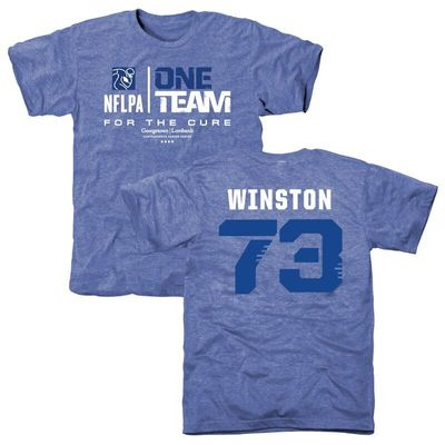 Men's Eric Winston Blue NFLPA One Team For The Cure Tri-Blend T-Shirt