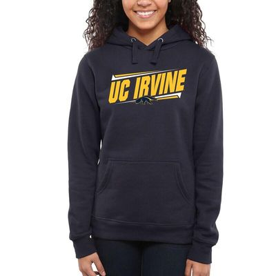 UC Irvine Anteaters Women's Double Bar Pullover Hoodie - Navy