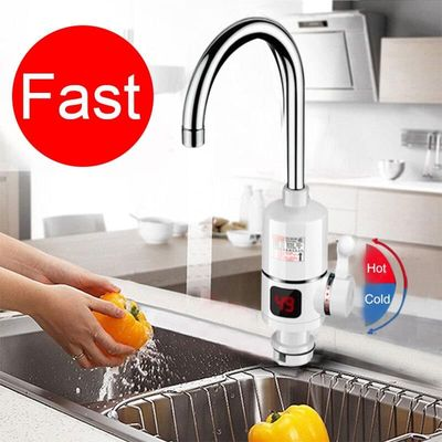 New Electric Kitchen Water Heater Tap Instant Hot Water Faucet Heater Cold Heating Faucet Tankless Instantaneous Water Heater