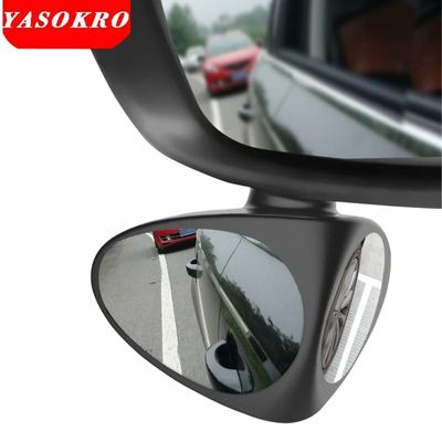 2 in 1 Car Convex mirror & Blind Spot Mirror Wide Angle Mirror 360 Rotation Adjustable Rear View Mirror View front wheel