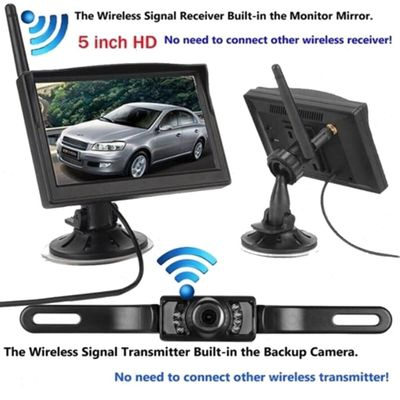Built-In Wireless Waterproof Night Vision System Reverse Backup Car Camera With 5