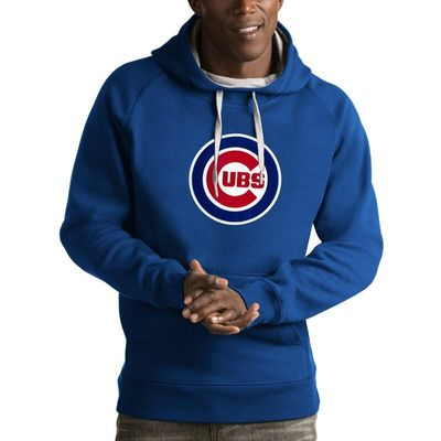 Chicago Cubs Antigua Victory Pullover Hoodie - Royal