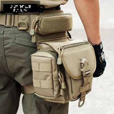800D Tactical bag Waterproof Military  armor Hunting Tool Leg Bag Tactical Fanny Thigh Pack Motorcycle Riding Waist Pack new