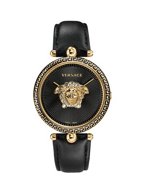 Versace Palazzo Stainless Steel & Leather-Strap Watch