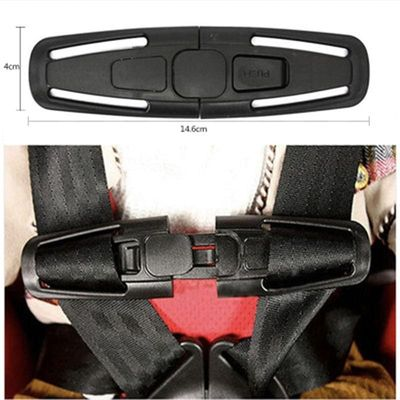 Baby Seat Belts Padding Kid 5-point Durable Nylon Safety Shoulder Strap Belt 4*14.6cm Slip-proof Harness Chest Clip Buckle Latch