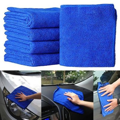Hot Sale 7 Pcs Blue Absorbent Wash Cloth Car Auto Care Microfiber Cleaning Towels Auto Wash Dry Clean Polish Cloth Lowest Price