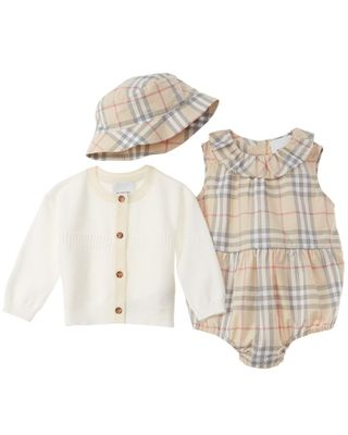 Burberry 3pc Vintage Check Baby Gift Set