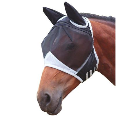Horse Mesh Mask Detachable UV-protection Anti-mosquito Horse Fly Mask Horse Riding Equipment for Horse Full Face Cover Masks