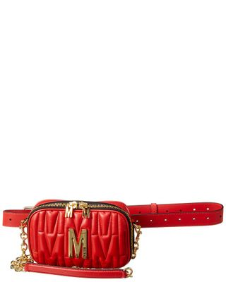 Moschino Quilted Leather Belt Bag