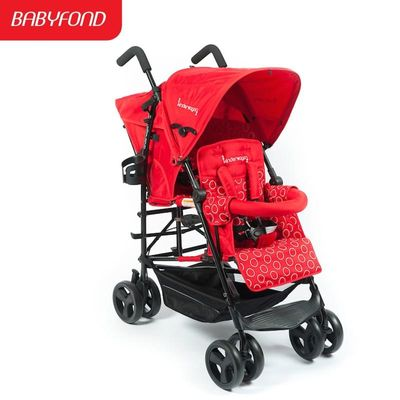 Kinderwagon twins stroller baby stroller emperorship child double umbrella car light easy folding twins stroller