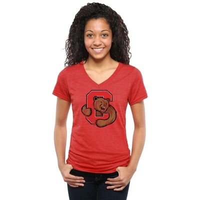 Cornell Big Red Women's Classic Primary Tri-Blend V-Neck T-Shirt - Red