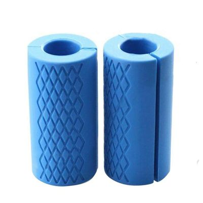 1 Pair Barbell Dumbbell Grips Thick Bar Handles Silicone Anti-slip Protect Pad Pull Up Weightlifting Support